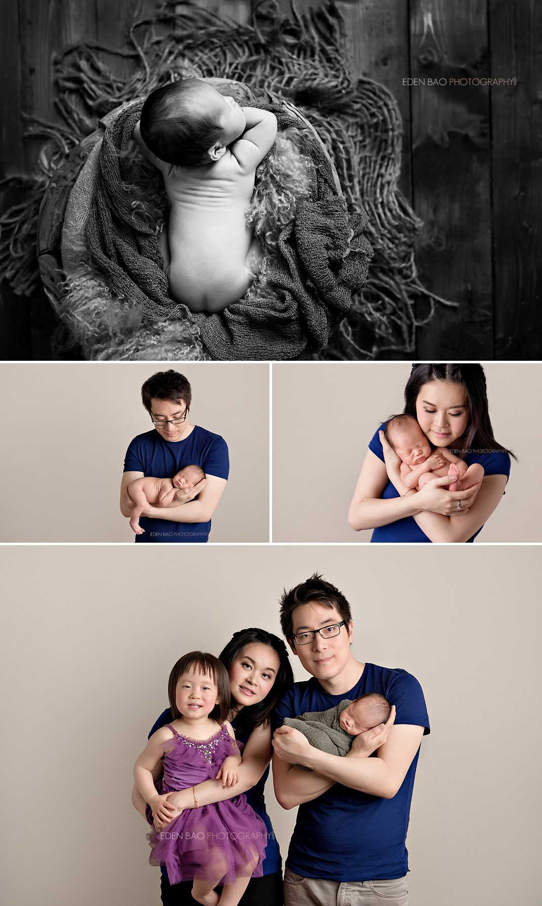 Seattle Newborn Photographer parent baby family