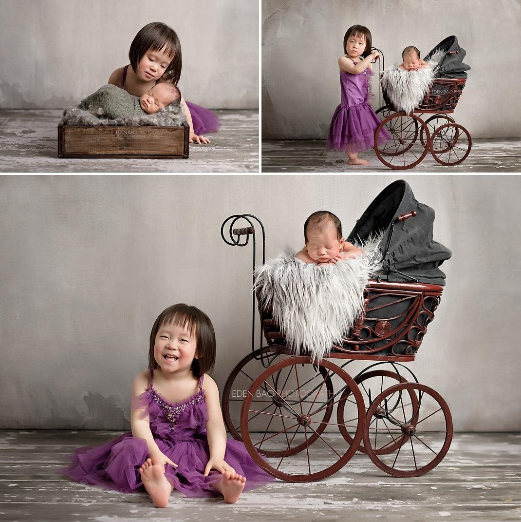 Seattle Newborn Photographer siblings