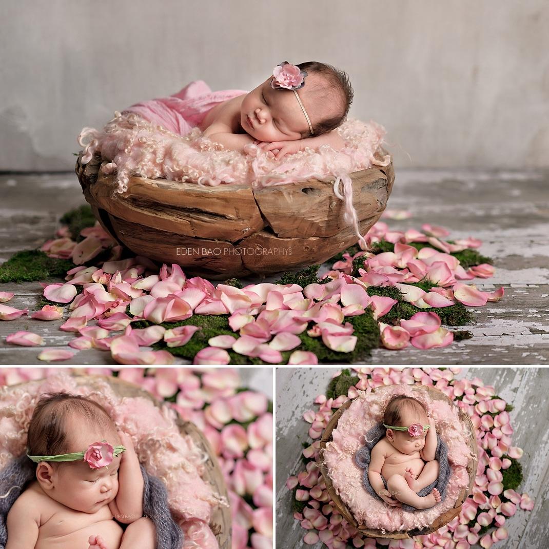 Newborn Photography Seattle Eden Bao rustic wood