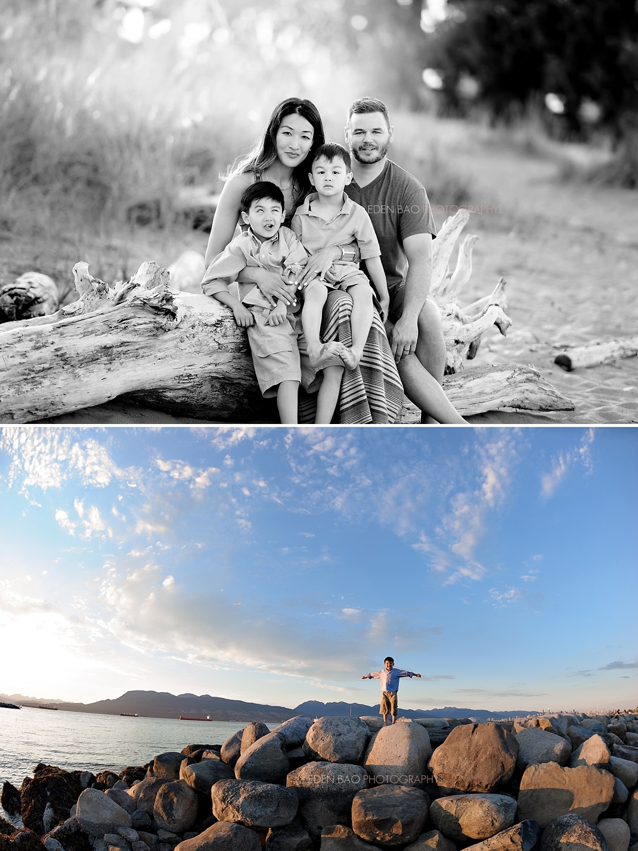 Seattle family photographer Eden Bao Jericho Beach