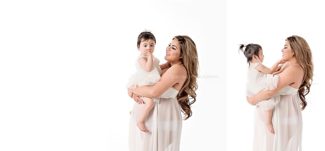 Bellevue maternity photographer Eden Bao mom and toddler
