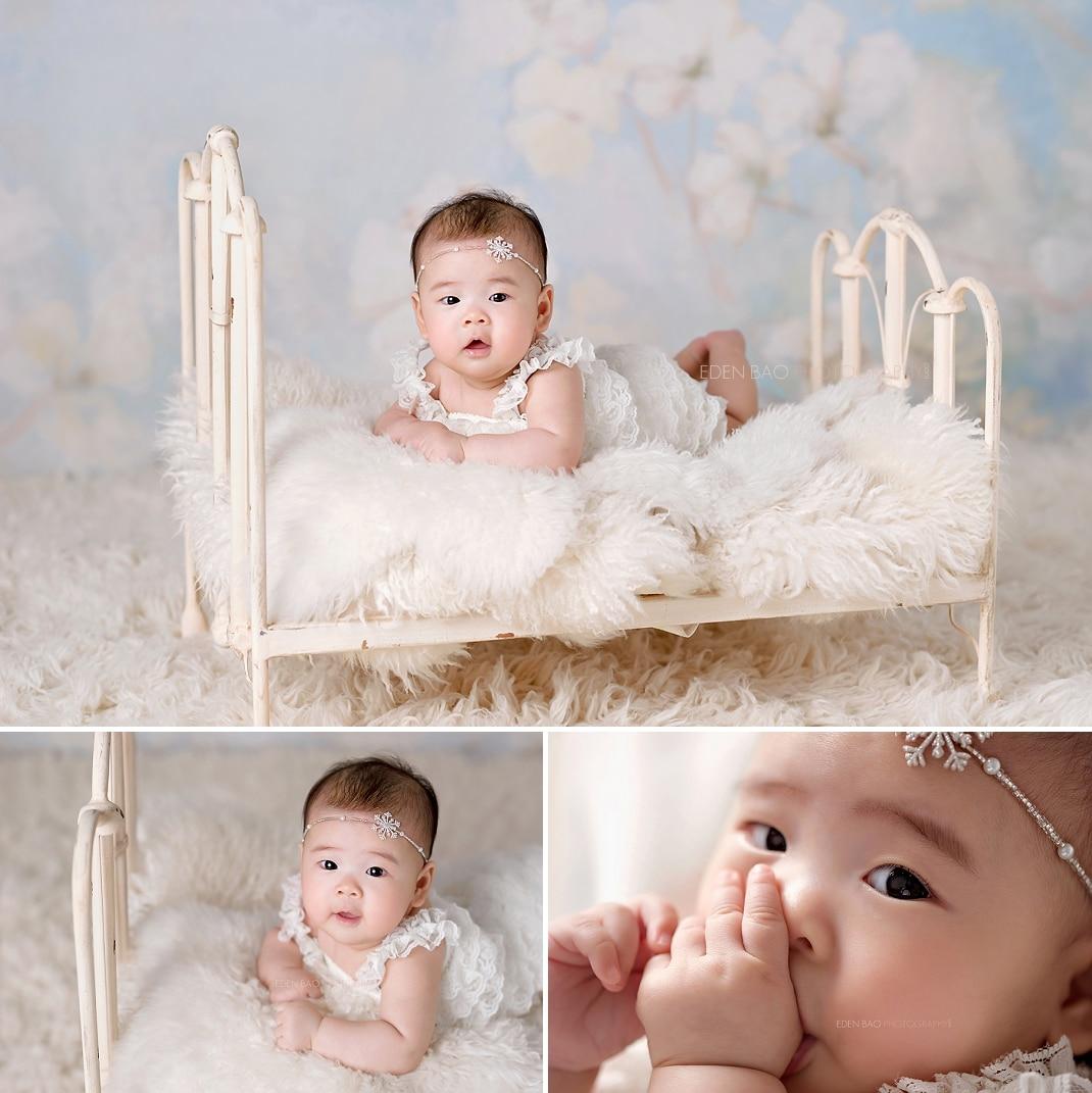 Seattle Baby Photographer Eden Bao iron bed