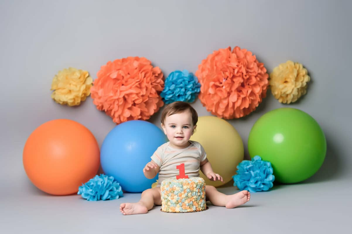 Bothell baby photographer cake smash