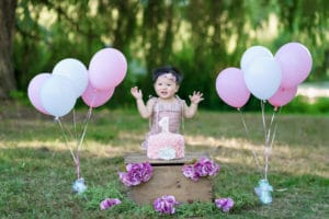 Everett baby photographer cake smash