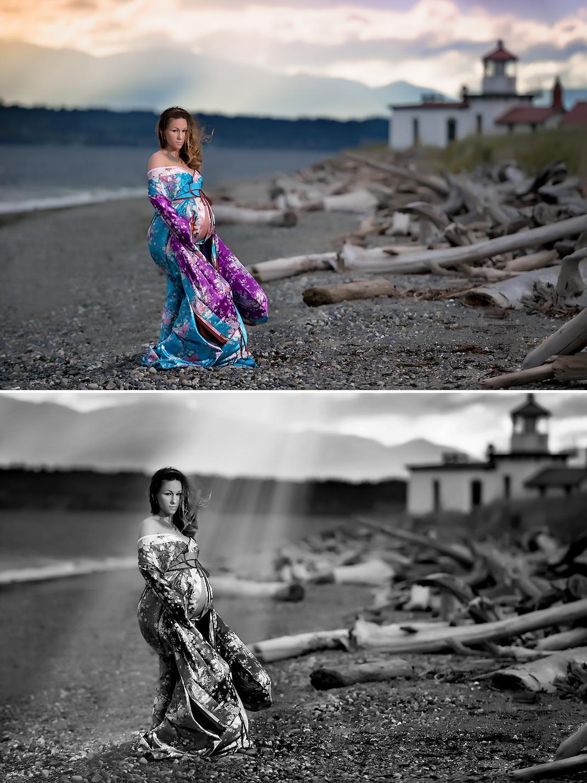 Shoreline maternity photographer | Discovery Park maternity shoot 2
