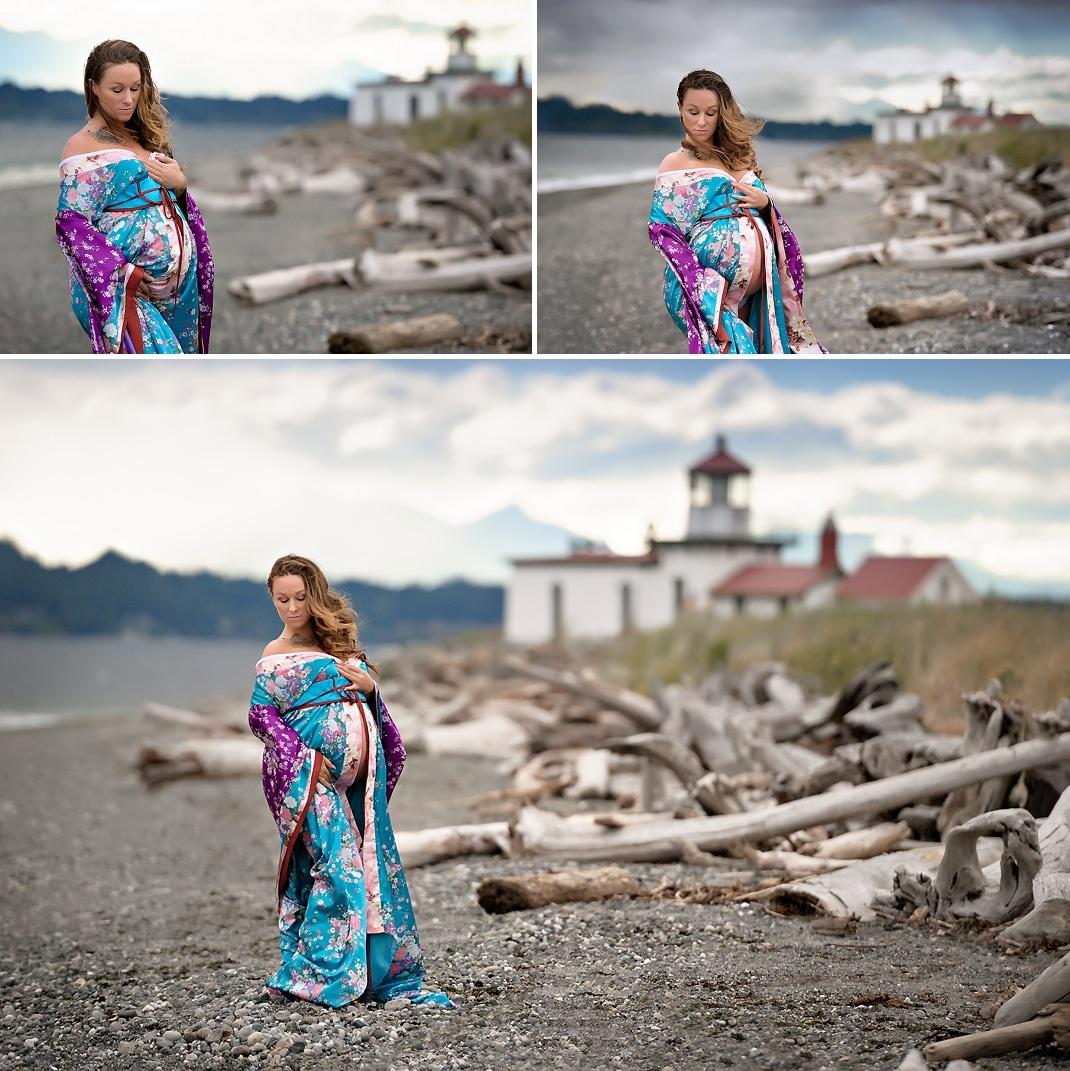 Shoreline maternity photographer | Discovery Park maternity shoot