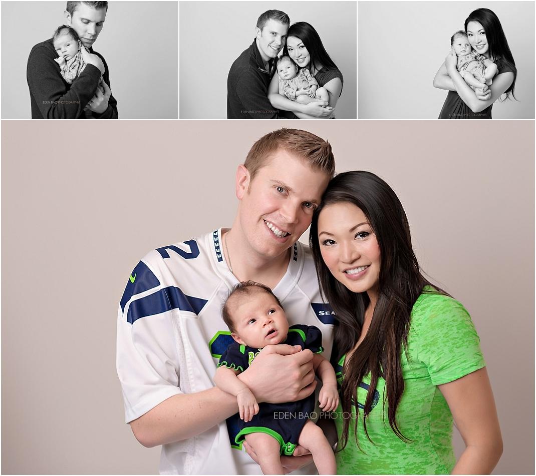 Newborn Photographer Northwest Seattle Seahawks fans