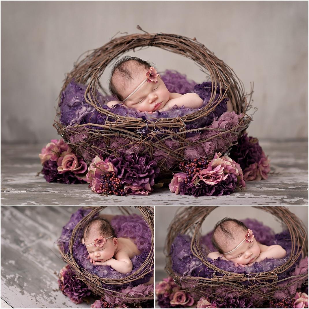 Newborn Photographer Northwest Seattle twig basket