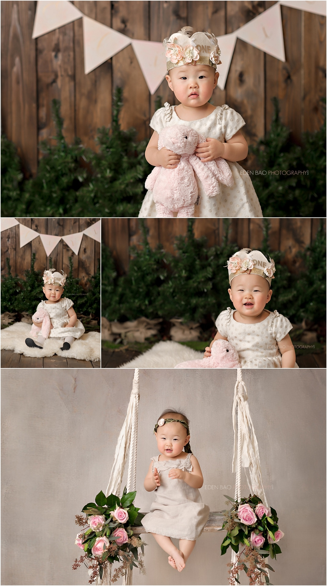 Kirkland baby photographer rustic swing