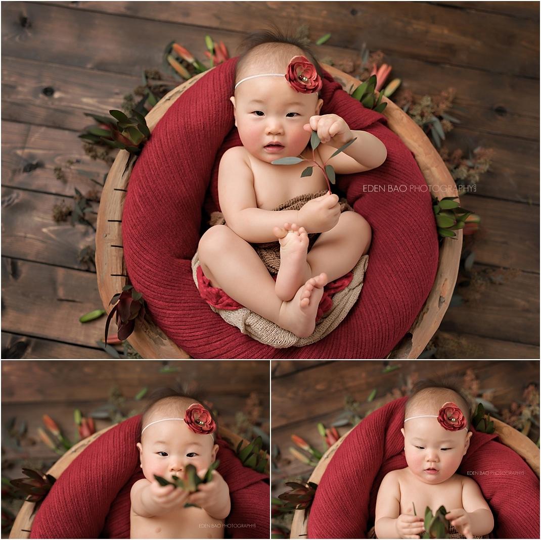 Kirkland baby photographer wooden bowl