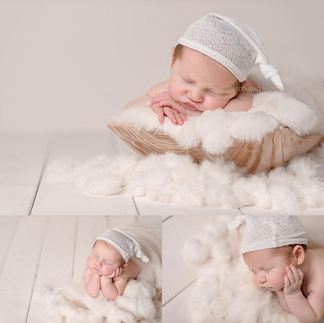redmond-newborn-photographer-baby-on-furry-rug