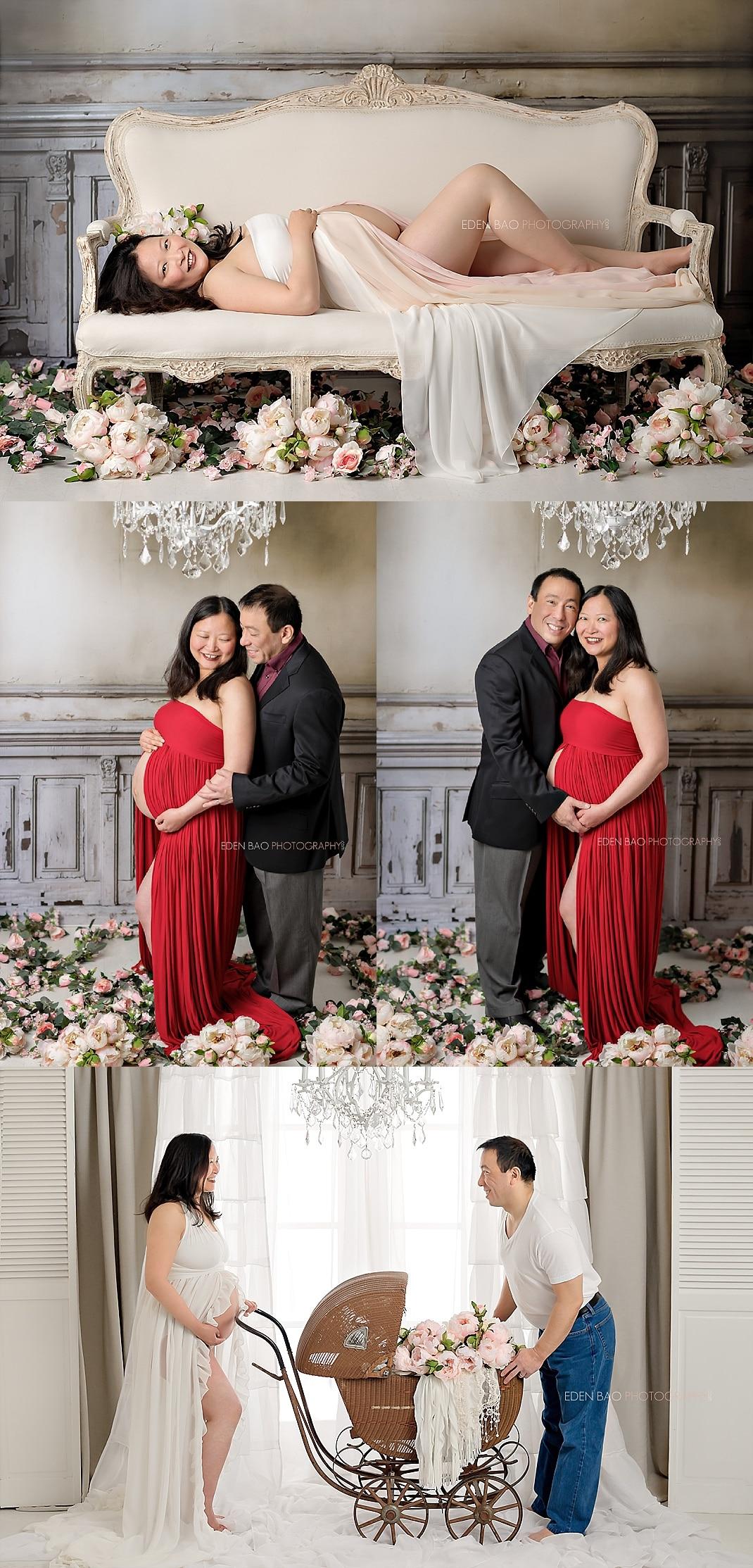 renton-maternity-photographer-pregnant-mom-on-vintage-chair