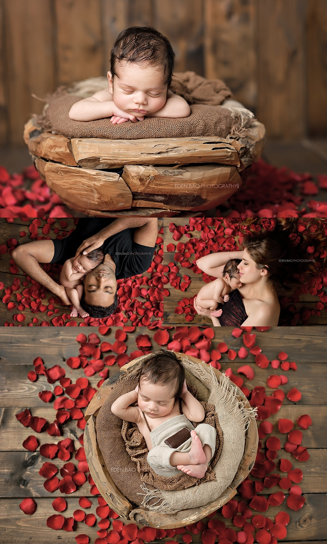 duvall-newborn-photographer-baby-in-basket-with-roses