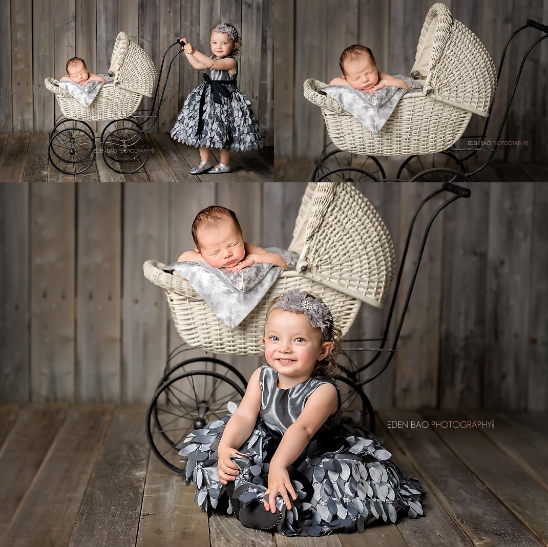 Snohomish Newborn Photographer Newborn Baby with Big Sister Toddler