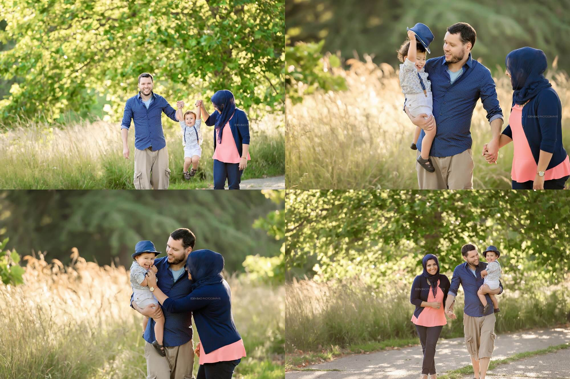 Seattle Family Photographers Discovery Park grassy fields