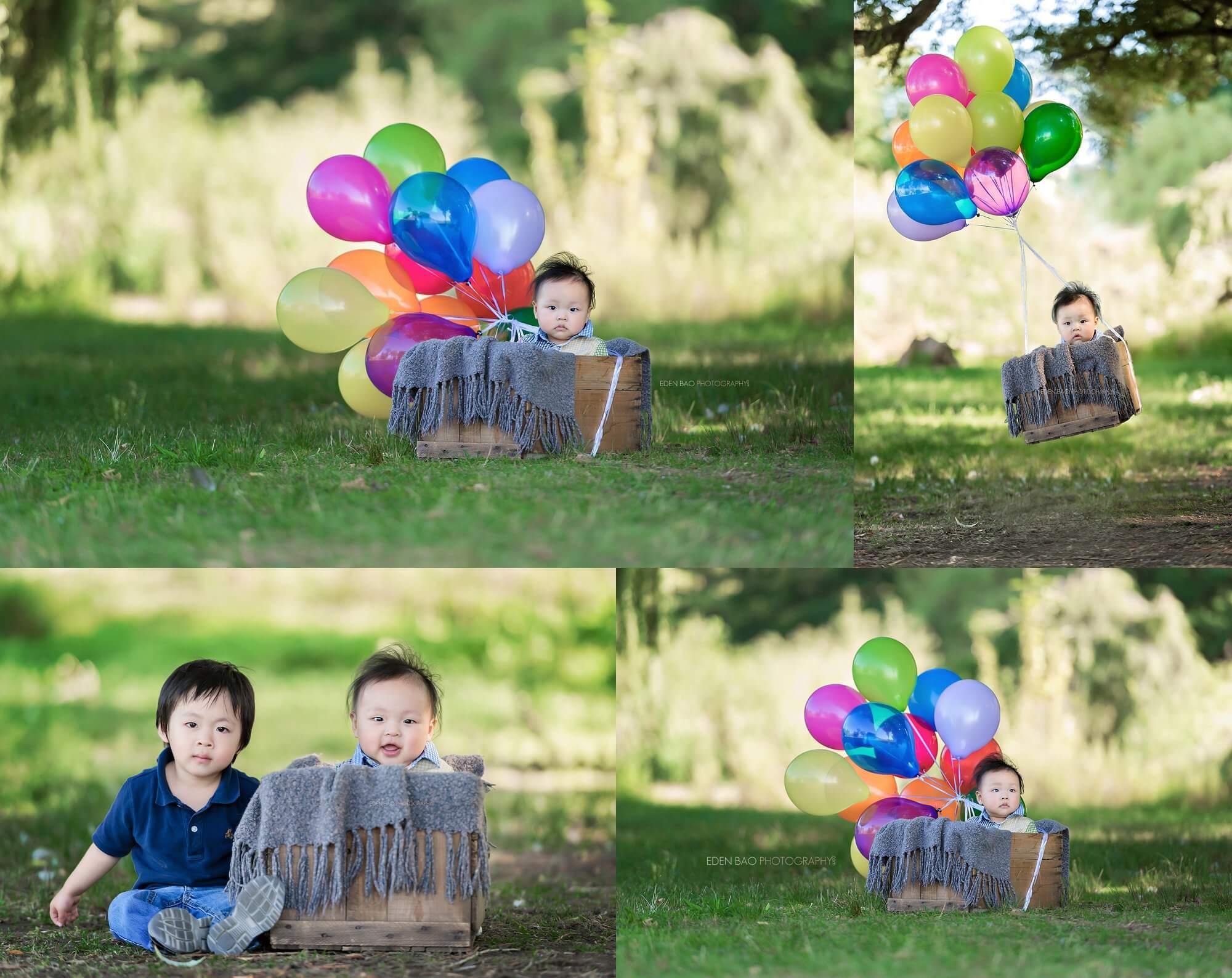 Vancouver Baby Photographer Jericho Beach Balloons