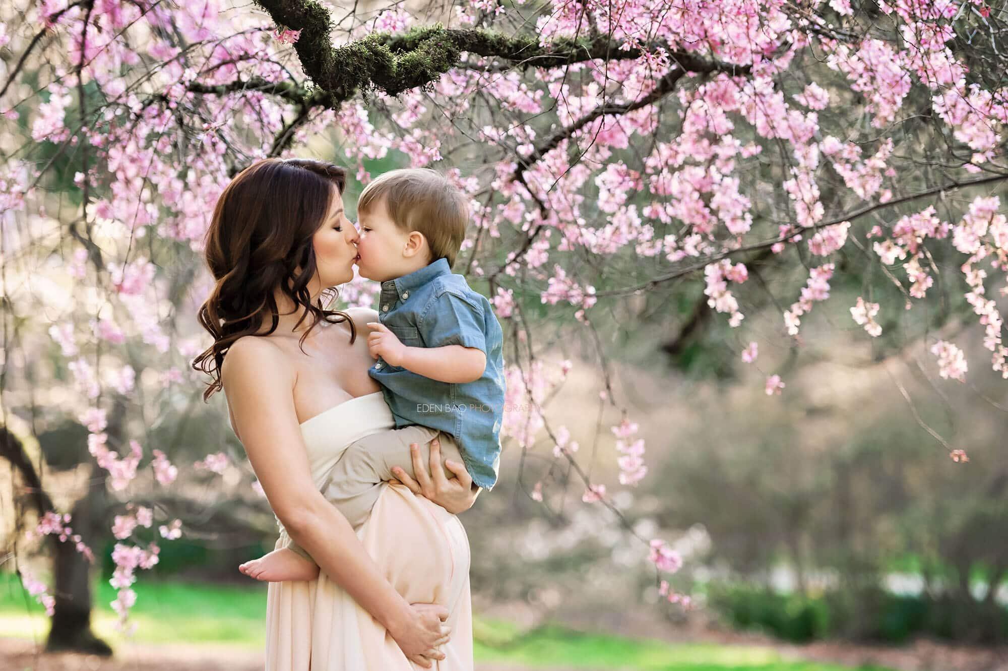 Cherry Blossom Maternity Seattle Photographer