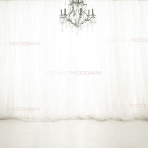 White Curtains Chandelier