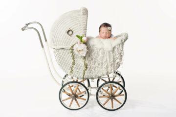 Newborn Vintage White Baby Carriage