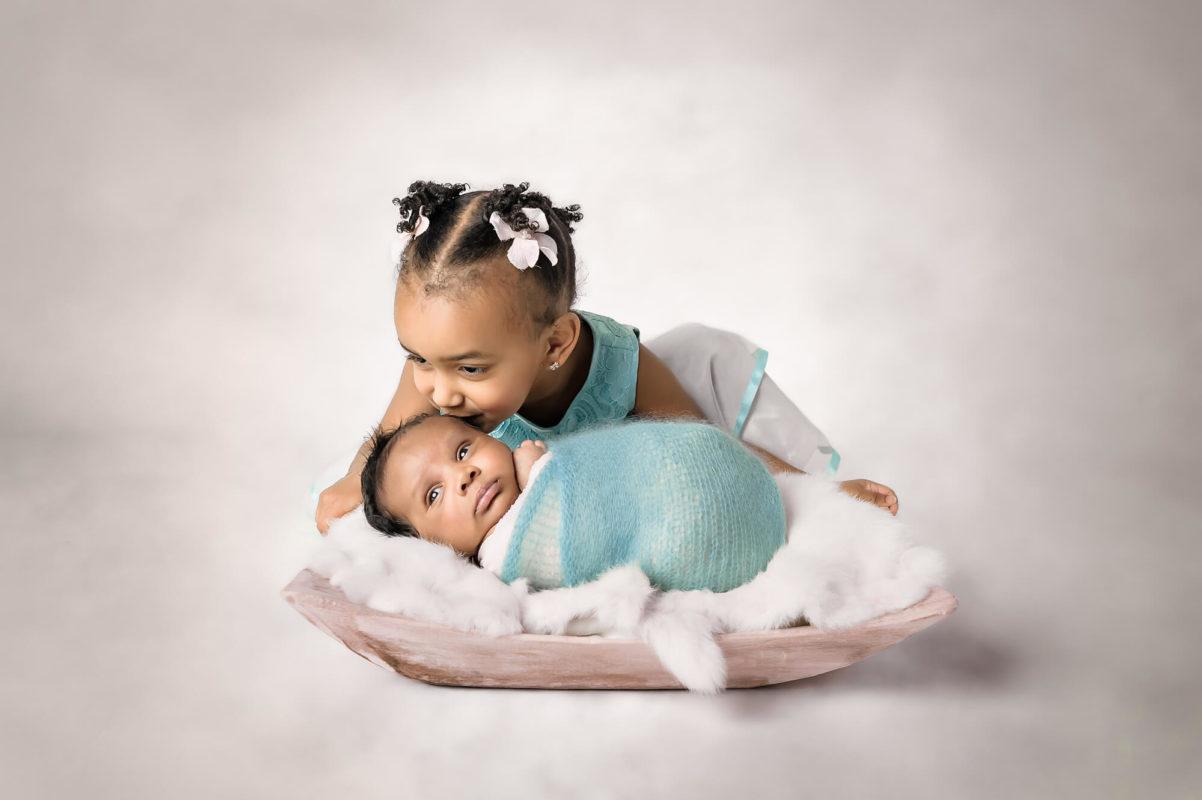 Big Sister Newborn Brother Eden Bao