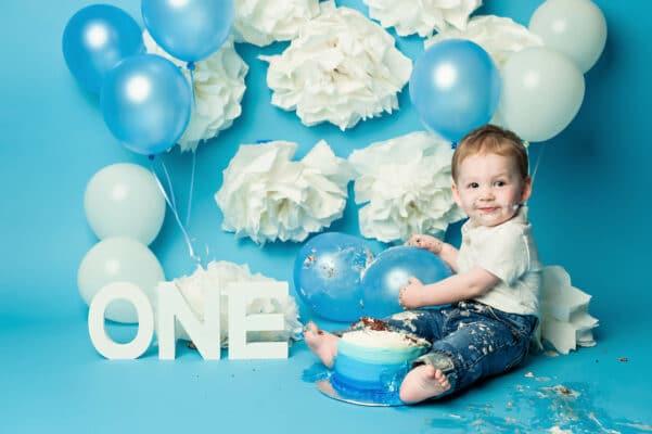 Boy Blue Cakesmash by Eden Bao