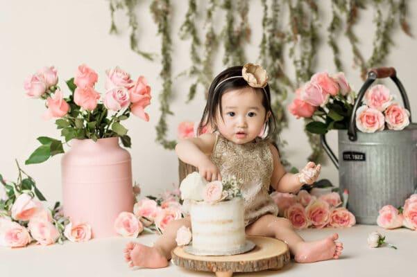 garden Cake smash by Eden Bao