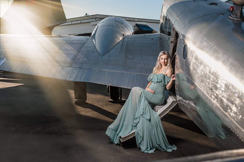 Camilla Tiffany Blue Maternity Gown