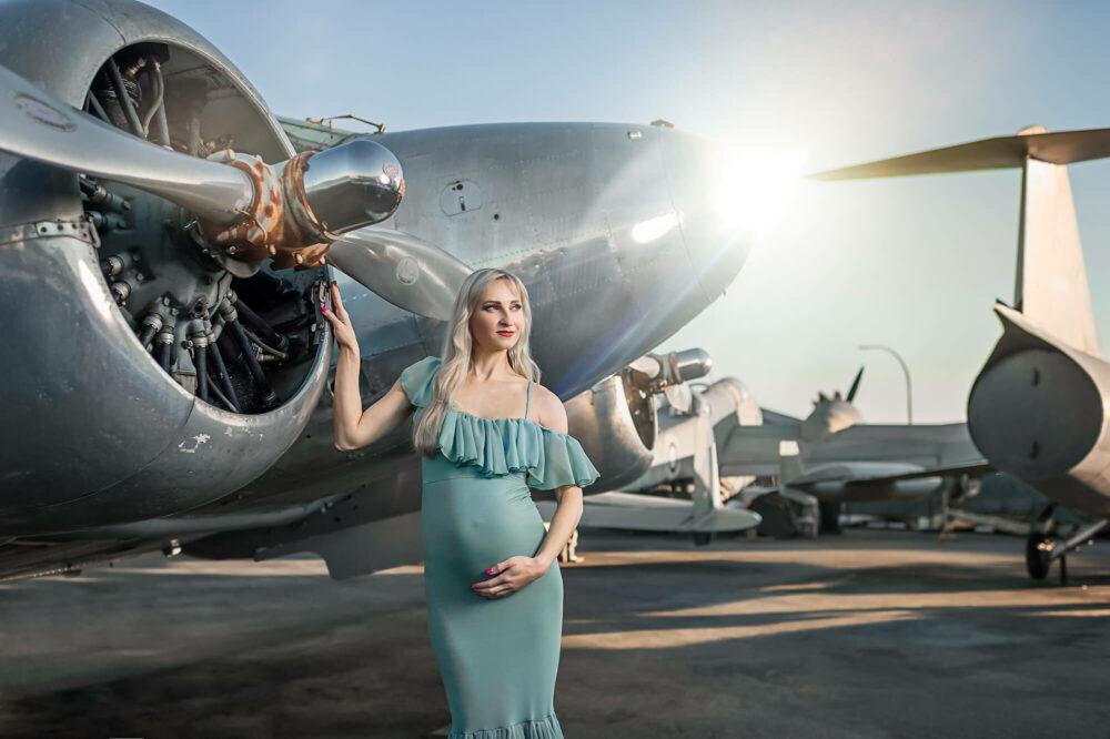 Camilla Tiffany Blue Maternity Gown 3