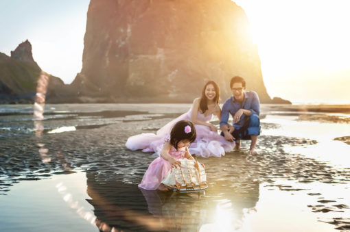 Cannon Beach Family Photo Eden Bao