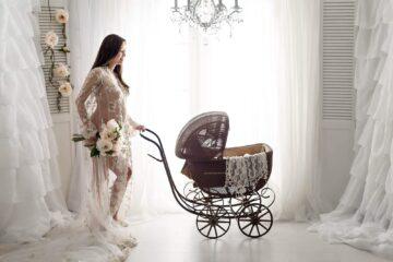 Champagne Sequin Lace Long Robe Eden Bao