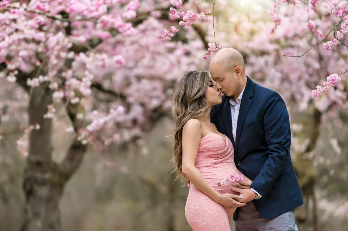 Cherry Blossom Maternity Couple Eden Bao