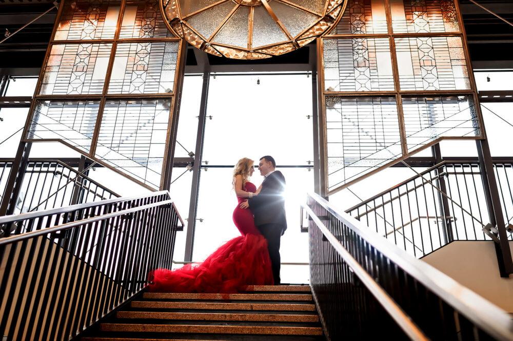 Everett Train Station Couple Engagement Photo by Eden Bao