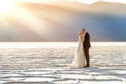 Badwater engagement photo by Eden Bao
