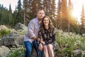 Couple Engagement Mt Rainier Photo by Eden Bao