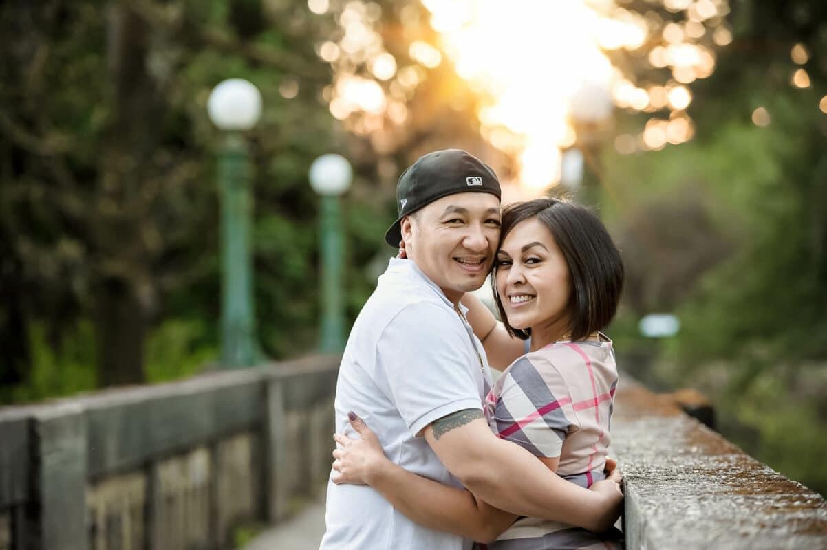 WA Arboretum Couple Engagement Photo by Eden Bao