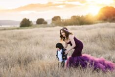 Discovery Maternity Purple Dress Eden Bao