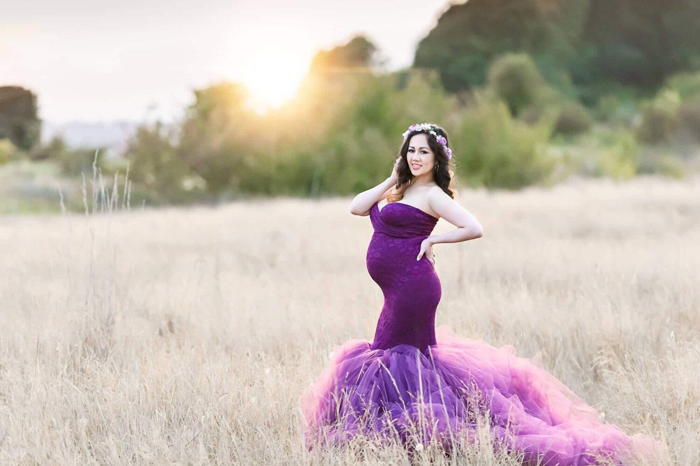 Discovery Park Maternity Purple Dress Eden Bao