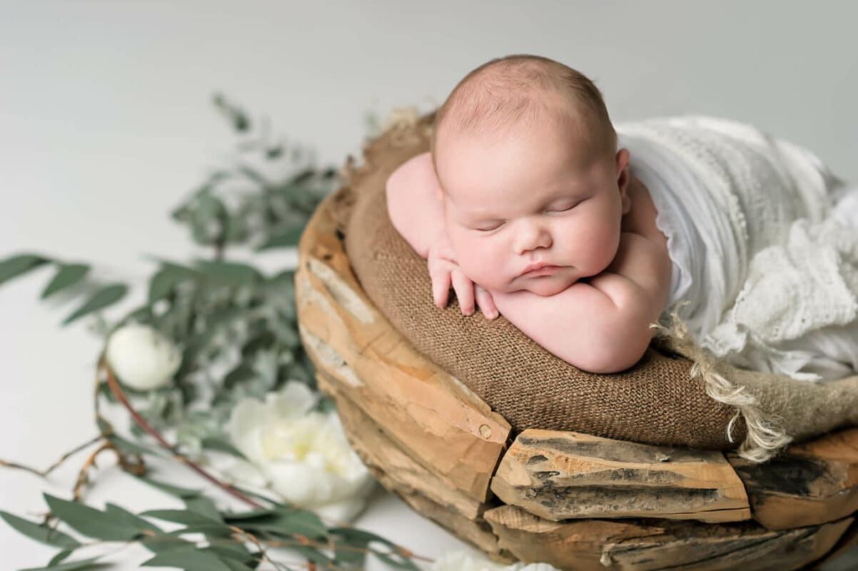 Eucalyptus Newborn Photo Eden Bao