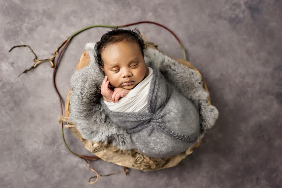 Grey Backdrop Newborn Eden Bao