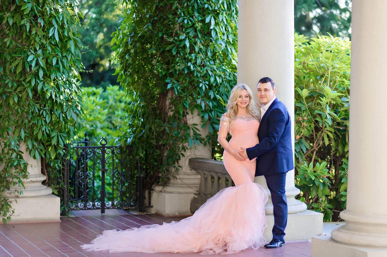 Hycroft Celine Pink Maternity Gown Eden Bao 2