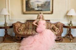 Hycroft Celine Pink Maternity Gown Eden Bao