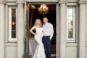 Hycroft Mansion Samantha Maternity Ivory Dress Eden Bao