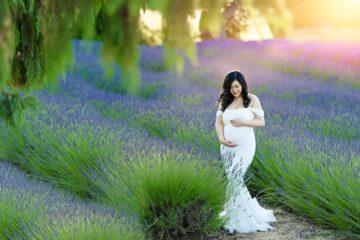 Lavender Farm Samantha Maternity Ivory Dress Eden Bao