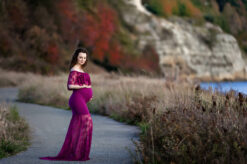 Discovery Park Magenta Maternity Gown Eden Bao