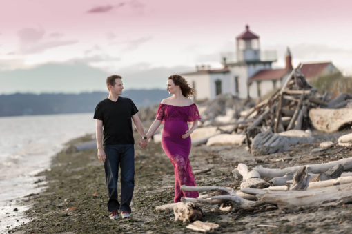 Discovery Park Lighthouse Magenta Maternity Gown Eden Bao
