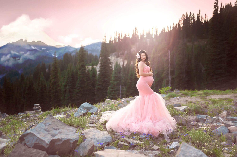 Mountain Celine Pink Maternity Gown Eden Bao 2