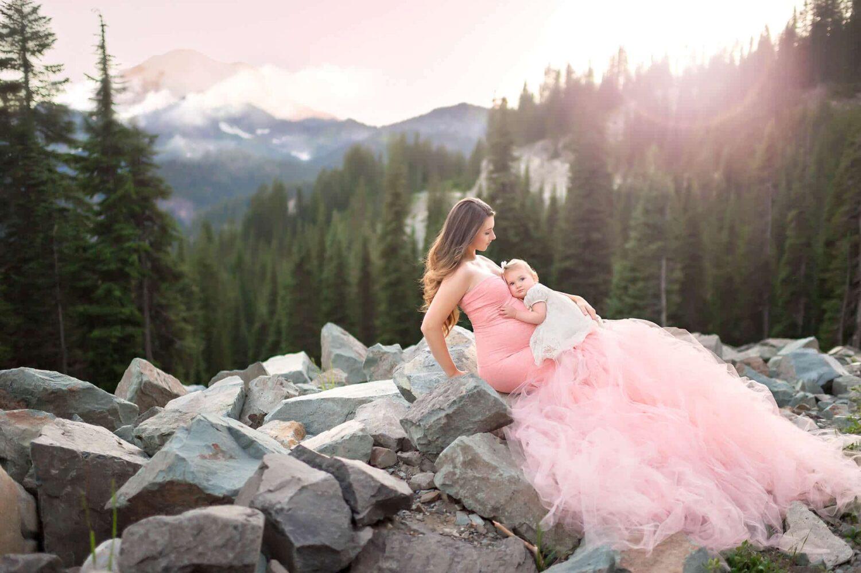Mountain Celine Pink Maternity Gown Eden Bao
