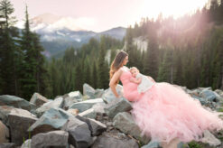 Mountain Celine Pink Maternity Gown Eden Bao