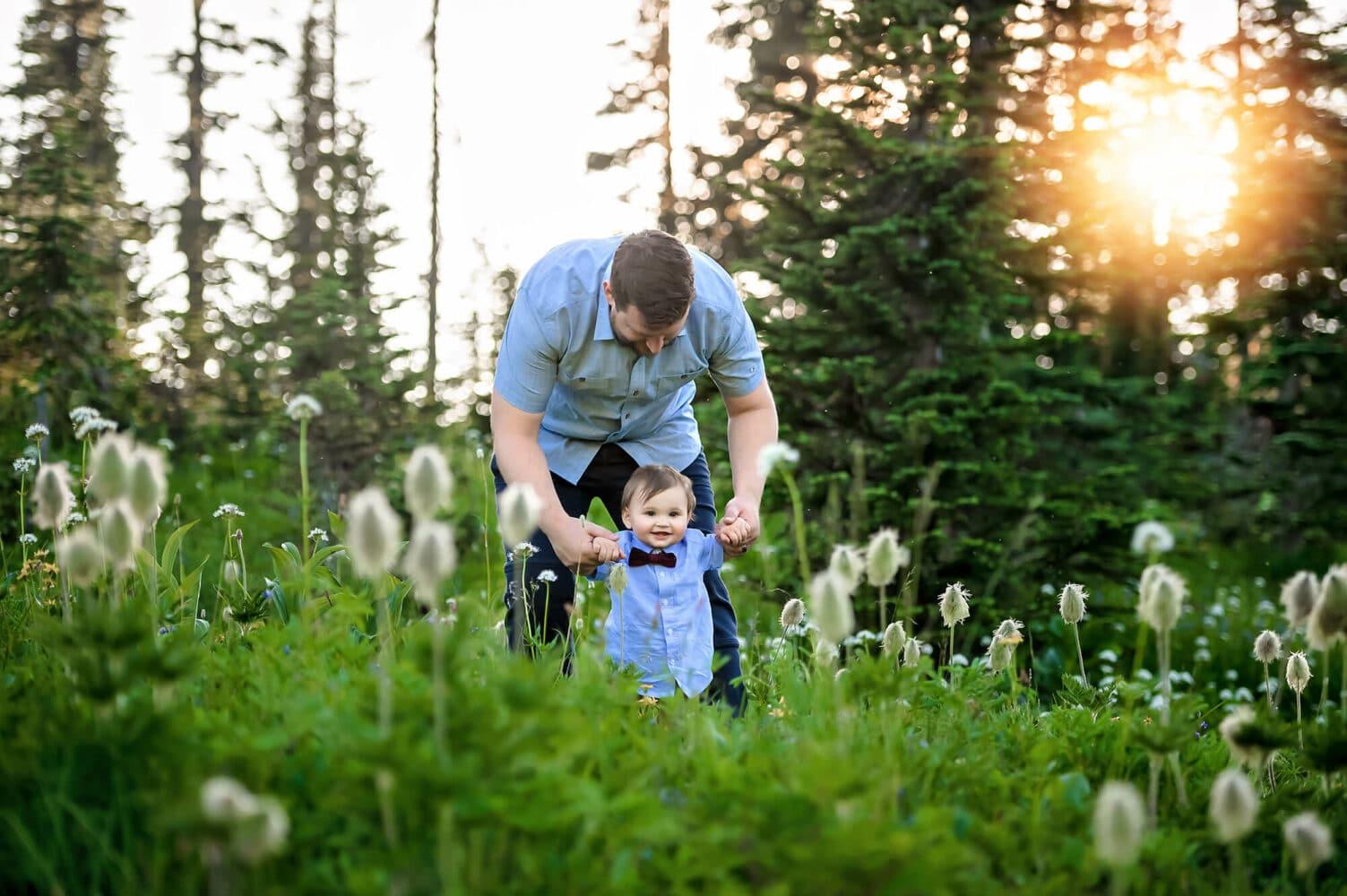Mt Rainier Baby Photographer