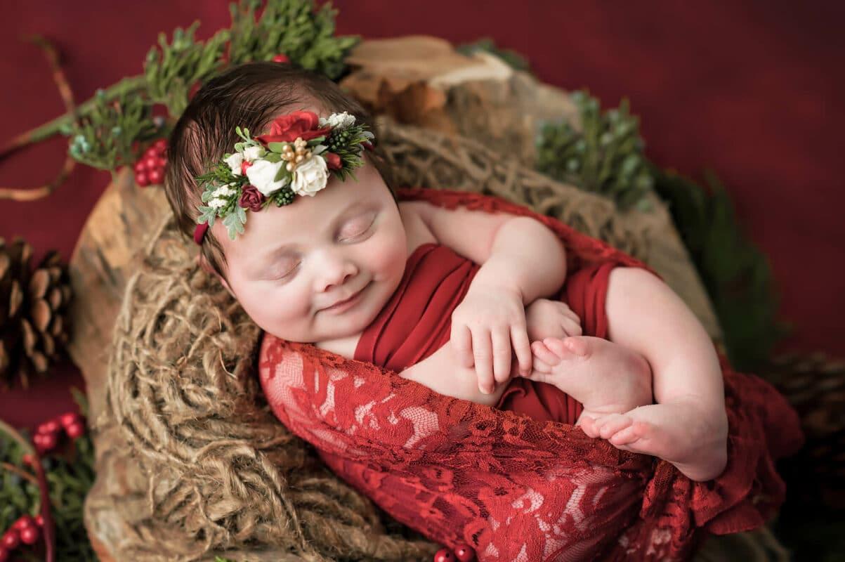 Newborn Christmas backdrop Eden Bao
